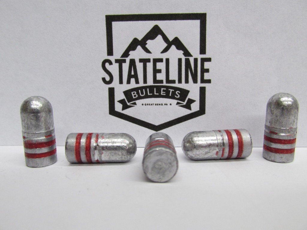 35 Cal 195 gr RN Hard Lead Cast Bullet