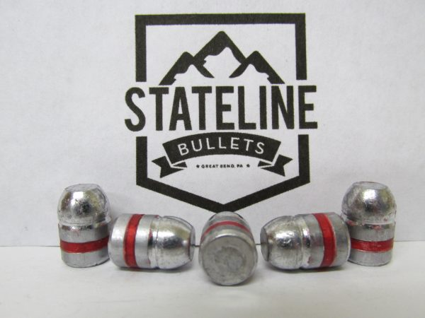 38 cal 125 gr RNFP Lead Cast Bullet.