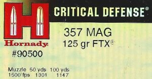 Hornady 357 mag Critical Defense