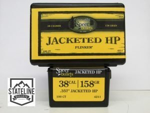 38 cal 158 gr JHP Speer Reloading Bullets