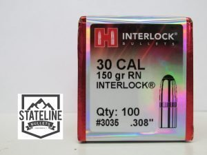 Hornady 30 Cal 150 gr RN Jacketed Rifle Bullet