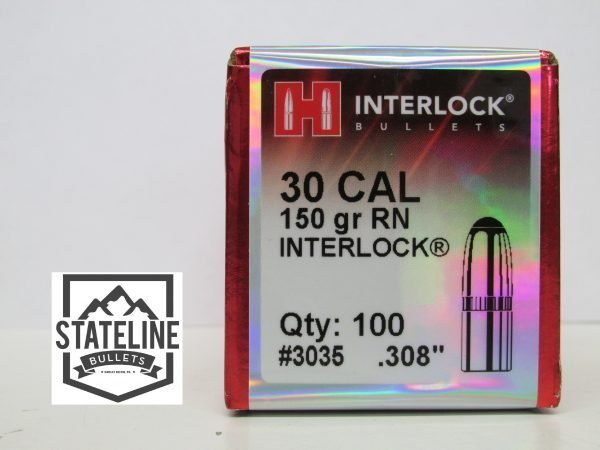 Hornady 30 Cal 150 gr RN Jacketed Rifle Bullet